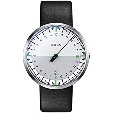 Botta Diseño de uno 24Neo Color Blanco de verde Reloj de pulsera–24H einzeiger Reloj, acero inoxidable, cristal de zafiro antirreflejos, correa de