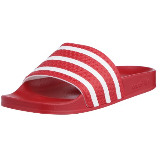 adidas Adilette, Herren Dusch- & Badeschuhe, Rot (Light Scarlet/White/Light Scarlet), 48 2/3 EU (13 Herren UK)