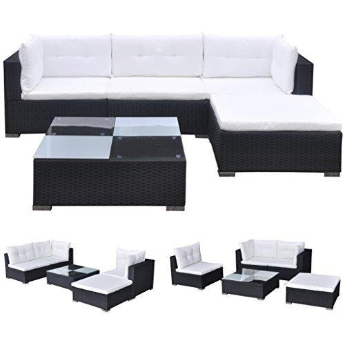vidaXL Gartenmöbel 14-TLG. Poly Rattan Sofa Gartengarnitur Lounge Sitzgruppe