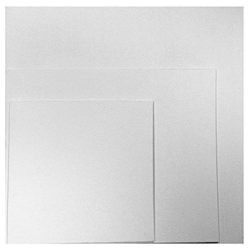 Künstler Blanke Leinwände Bretter Baumwolle Ente Gips grundiert 280g für Acryl &Ölgemälde - Weiß, 25 x 30cm - Laminiertes Leinen