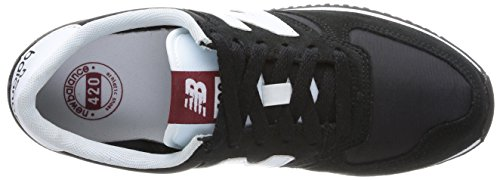 New Balance U420 Unisex-Erwachsene Sneakers Schwarz (Black/White) NCMPTl8qu
