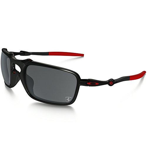 Oakley Herren Badman 602007 Sonnenbrille, Schwarz (Dark Carbon), 60