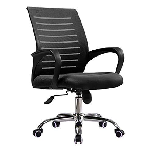 PNYGJDJY Moderner Bürostuhl, ergonomischer Netzschreibtisch, Computerstuhl, Schreibtisch und Chai, Höhenverstellung, 360 ° drehbarer Innenbürostuhl mit weichem Sitznetz und hoher Rückenlehne