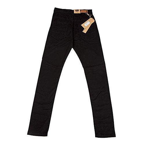 Robelli Homme Designer Super Skinny Extensible Pantalon Chino Noir