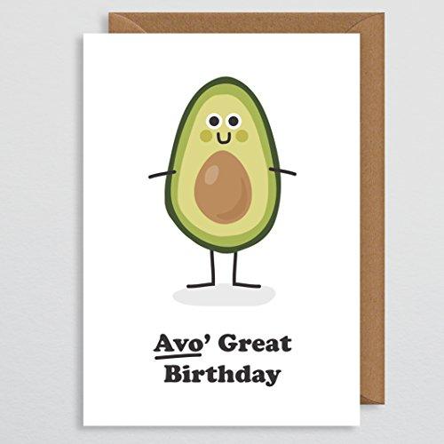 Funny Geburtstagskarte Avocado Geschenke Avocado Geburtstagskarte für Freundin Wortspiel Geburtstagskarte Vegetarisch Geburtstagskarte für Sie