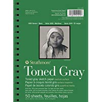 "Strathmore Gray Drawing 400 Series Toned Sketch Pad, 5.5""x8.5"", 50 Sheets"