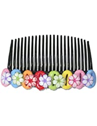 Unique indian craft Hair Comb pin/Multicolor foam sheet /Girls Hair Accessories /Fashionable Indo Western Wedding Bridal Party Wear Hair Cfor kids /girls/women.judda Accessories and Hair Decoration by unique indian craft