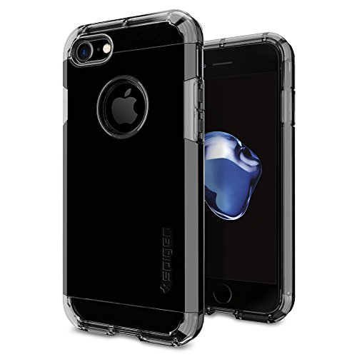iPhone 7 Hülle, Spigen® [Tough Armor] Schwerschutz [Schwarz] Doppelte Schutzschicht & Extrem Hoher Fallschutz Schutzhülle für iPhone 7 Case, iPhone 7 Cover - Black (042CS20491) TA Diamant Schwarz