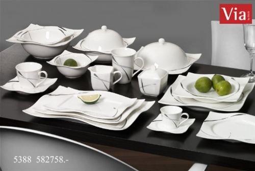Via By R&B Geschirr-Serie Dacapo Material Milch&Zucker Set 2 tlg. Dacapo