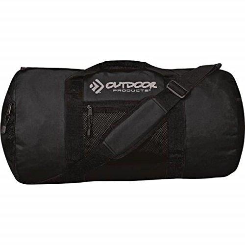 outdoor-products-black-utility-round-duffle-medium-gym-travel-work-12-x-24
