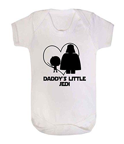 DADDY 'S LITTLE Jedi Star Wars Neuheit Baby Schlafanzug Weste Strampler Einteiler Funny (Kleidung Wars Star Jedi)