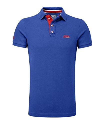 M.Conte Herren Poloshirt Basic Men's Kurzarm Polohemd T-Shirt Polo-Shirt Pique- Gr. XXXL, Indigo -Blue (Basic Herren-polo-shirt)