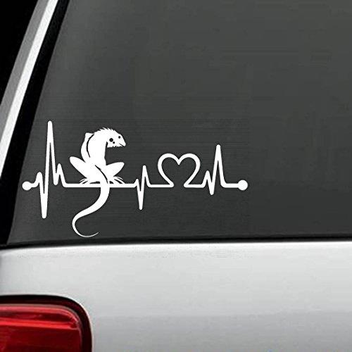 Herzschlag Chamäleon 30cm hochwertige UV-beständige Aufkleber,Sticker, für Auto,Wand,Laptop,Fliesen,Bad,Badezimmer,WC, und alle glatten Flächen aus Hochleistungsfolie ohne Hintergrund, (Chamäleon-hintergrund)