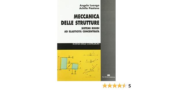 Meccanica Delle Strutture Sistemi Rigidi Ad Elasticità Concentrata Amazon It Luongo Angelo Paolone Achille Libri