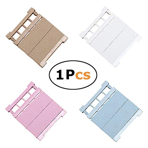 Mensola regolabile, ripiano separatore modulare stratificato, per armadi, frigoriferi, credenze, cucine e bagni, colore casuale, (30-40)x35cm