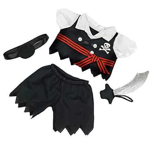 Ours To Do Un Ours. Une Histoire. Piraten-Outfit mit Schwert 20 cm Kleidung für Teddybär, Puppen, Kuscheltiere
