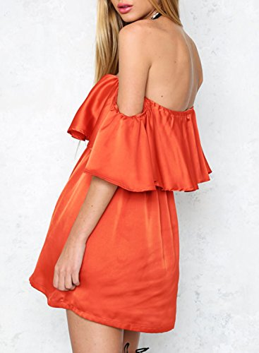 Futurino - Robe - Tunique - Sans Manche - Femme Orange