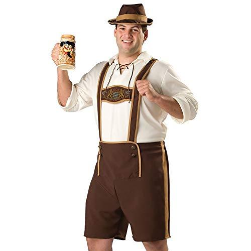 Outtybrave Oktoberfest Kleidung Kostüm Bühnenkostüm Erwachsene Halloween Rollenspiele Weihnachtsfeier Kleid Requisiten (Farbe: Fotofarbe, Größe: M)