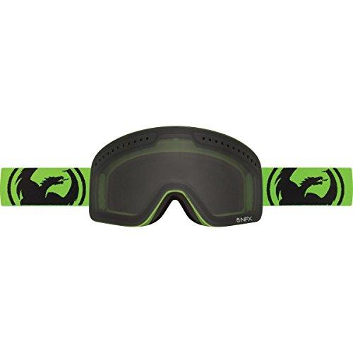 Goggle Frauen Dragon NFXs weiß Out, Smoke/Neon Green
