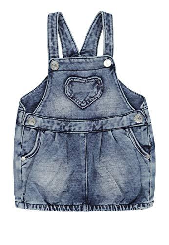 Kanz Baby-Mädchen Latzkleid Kleid, Blau (Light Denim|Blue 0014), 68