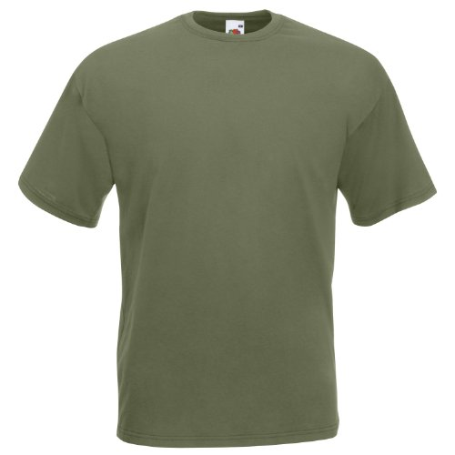 Fruit Of The Loom 61044 Mens Short Sleeve Super Premium T-Shirt Tee Grün - Classic Olive