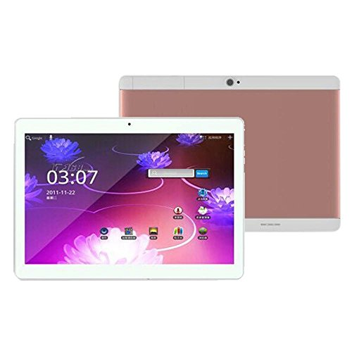 Tablet PC, S108 Smart Tablet 10,1 Zoll Android 4.4 800*1280, Mikrofon Wifi Octacore Core 2 Sim 4G HD Bluetooth 4.0 (800*1280, Roségold)