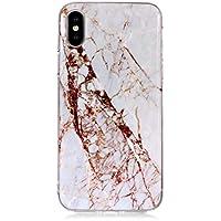 BONROY iPhone Xr Marmor Hülle, Silikon Handyhülle Schlank TPU - (YH-weißer zerstoßener Marmor)