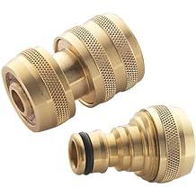 Spear & Jackson 1/2-inch Female Plus 1/2-inch Male Brass Hose Connectors