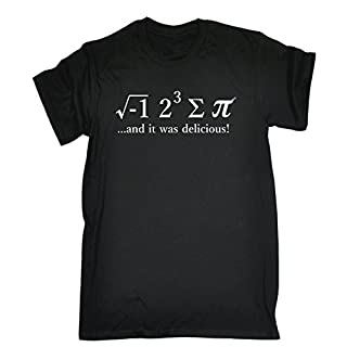 Funny Novelty Mens I 8 Sum PI (Black-Small) T Shirt Ate Some Pie Funny Maths Novelty tee t-Shirt