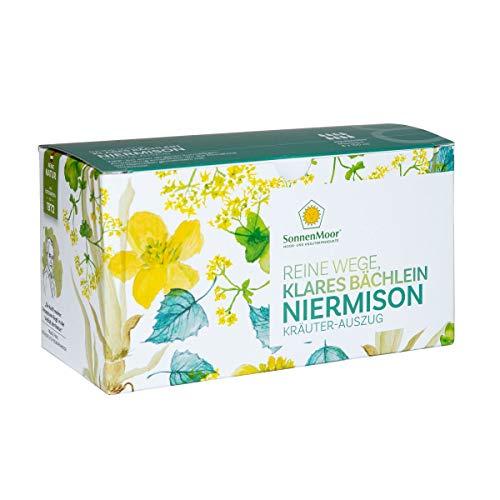 Sonnenmoor Niermison Kräuterauszug 8x100ml - Reine Wege Klares Bächlein - flüssige und natürliche Kräuterkombination zum Trinken für die Stärkung von Niere, Blase und Unterleib -