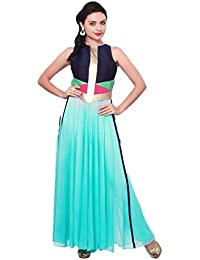 Muta Fashions Georgette Sea Green Women Kurti ( KURTI218_Sea Green )