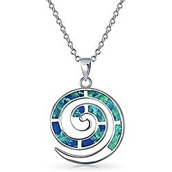 Collar en espiral Azul