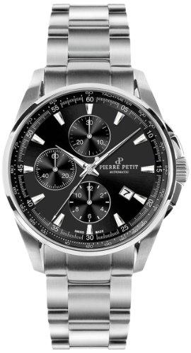 Pierre Petit Herren-Armbanduhr XL Le Mans Chronograph Automatik Edelstahl P-824A