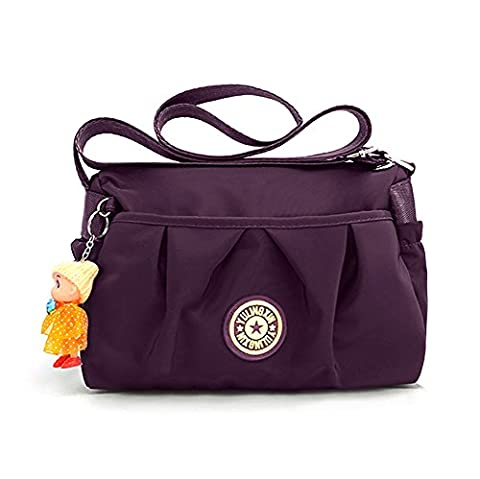 Womens Cross-body Bags,Waterproof Nylon Ladies Small handbags Shoulder Bags,Adjustable Shoulder Strap Handbag,Multi Pockets Travel Purse Shoulder Bag