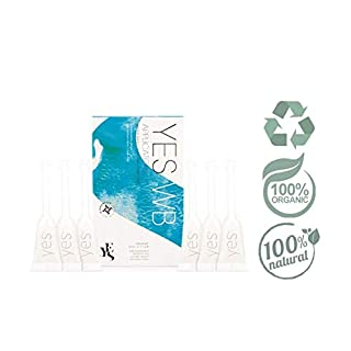 YES WB Applicators Organic Water Based Natural Personal Lubricant, 6 x 5ml, Moisturises The Intimate Area, Natural, Recyclable and Classified