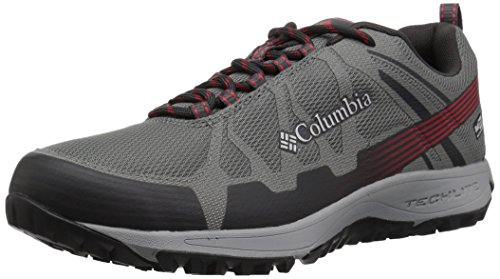 Columbia Conspiracy V Outdry, Chaussures de Randonnée Basses Homme, Ti Grey Steel, Bright Red, 48 EU