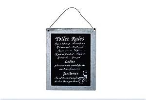 Plaque murale pour wc toilet rules pour toilettes salle de - Plaque murale pour salle de bain ...