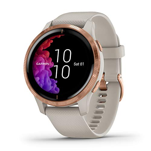 Garmin - Reloj Inteligente Smartwatch Garmin Venu Oro Rosa/Arena