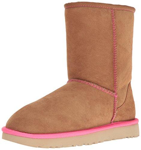 UGG Australia Damen Classic Short Neon Stiefel, Cammello/Rosa, 37 EU (Ugg Rosa Stiefel Australia)