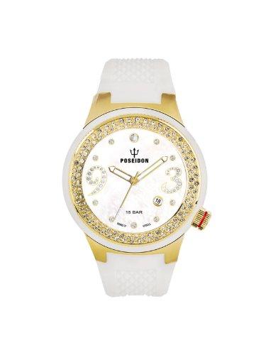 Poseidon-Kienzle - K2112024023-00425 - Montre Femme - Quartz Analogique - Cadran Blanc - Bracelet Silicone Blanc
