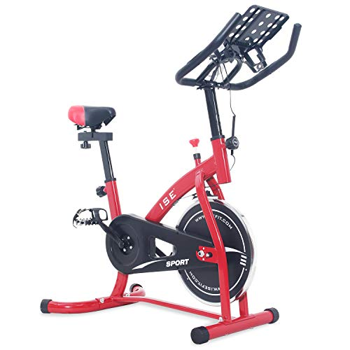 ISE Bicicleta Estática Spinning Sensor Pulso, Ajustable