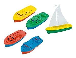 GIPLAM Surtido de Barcos (24 x 16 x 5 cm, 5 Piezas, tamaño pequeño/único)