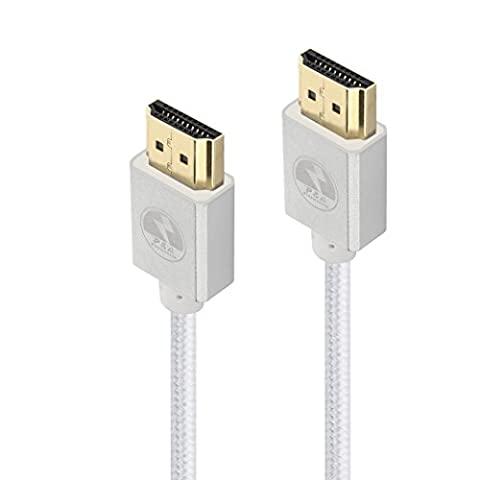 P&A Ultra HD HDMI Cable 3M- Gold Plated Connectors - Ethernet, Audio Return Channel - Video 4K 2160p, HD 1080p, 3D - Xbox PlayStation PS3 PS4 PC Apple TV-HDMI 2.0 (4K) Ready High Speed 18Gbps-Silver-10ft