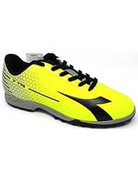 Diadora–Chaussures Futsal Homme–7-tri TF 172392-c3740–Noir/Blanc/Jaune fluo-41
