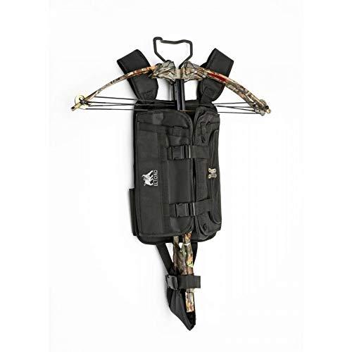 Tragesystem für Armbrüste mit vielen Taschen schwarz