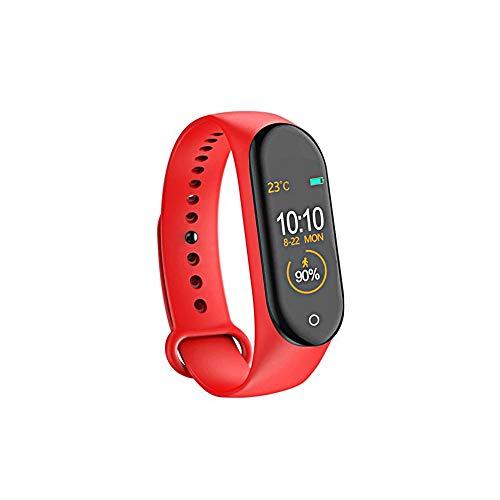 ChiYang M4 Smart Armband Herzfrequenz/Blut/Druck/Herzfrequenzmesser/Schrittzähler Sport Armband (Rot)
