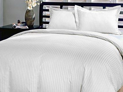 White Stripe Bettwäsche-Set für King Size Bett, Ägyptische Baumwolle, Fadenzahl 800