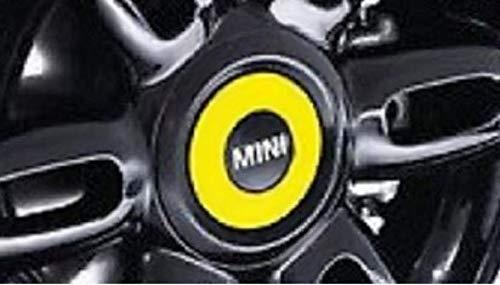 Mini Authentique en Polycarbonate Jaune Ray hub Cap Lot de 4 x 36132321394