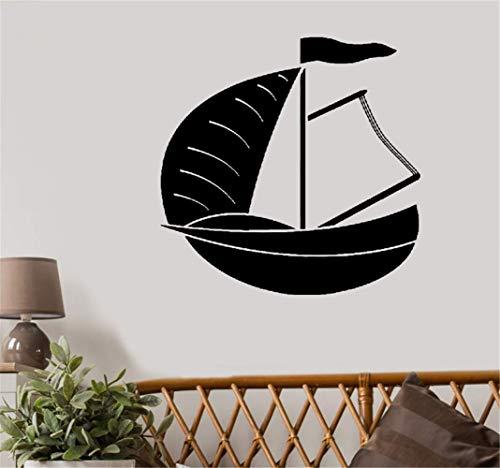 wandaufkleber 3d Wandtattoo Schlafzimmer Großes Schlauchboot-Segelboot-Yacht-Wasser-Extremsport