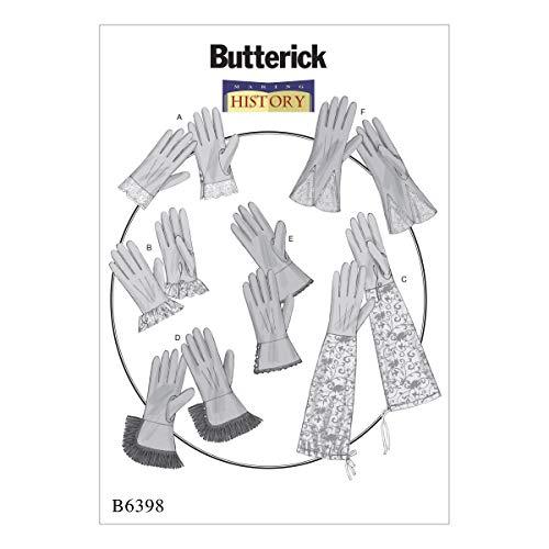 2 Kostüm Shank - Butterick Patterns Butterick Schnittmuster 6398OS Handschuhe, Mehrfarbig,
